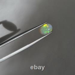 9.2x6.8mm 1.23ct Semi Cristal Noir Opale Naturelle Solide Opal Lightning Ridge