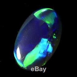 A ++ Qualité Verts Brillant Solide Lightning Ridge Australien Opale Noire 11686