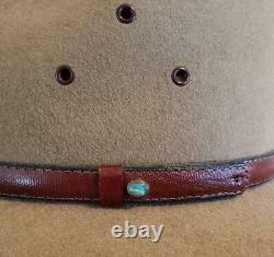 Akubra Coober Pedy Felt Hat Australian Opal Us Taille 7 1/2. Métrique 60 Impériale
