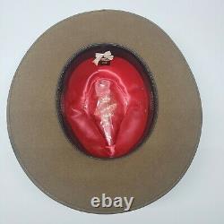 Akubra Coober Pedy Felt Hat Australien Opal Us Taille 7 3/8. Métrique 59 Impérial