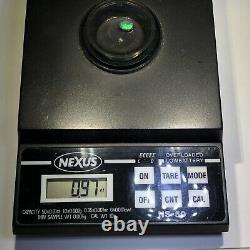Anneau Opal Noir Video Or Australien 14k Bleu Vert Solide. 97ct Lr Gemme X46