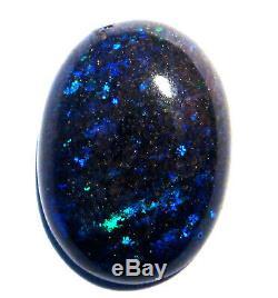 Australian Andamooka Matrice Opal Cut Solides Verts Et Les Bleus Pierre 5.54ct