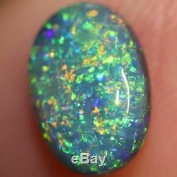 Australian Black Opal Lightning Ridge, Solide Gem Pierre, Cabochons 1.0 Cts