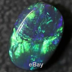 Australian Black Opal Lightning Ridge, Solide Gem Pierre, Cabochons 1,94 Cts