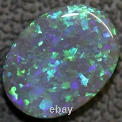 Australian Black Opal Lightning Ridge, Solide Gem Pierre, Cabochons 2,78 Cts