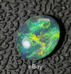 Australian Black Opal Lightning Ridge, Solides En Vrac Pierre Cabochon 0,80 Cts