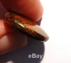 Australian Boulder Opal Solides En Vrac Cut Bright Stone Verts 19mm Ronde 2346