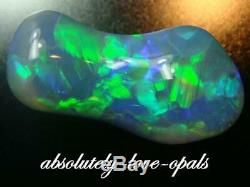 Australian Lightning Ridge Opal Gem Noir Aplat 2.44cara Bijoux Designer