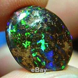 Australian Natural Green Violet Turquoise Solide Matrice Boulder Opal Vidéo
