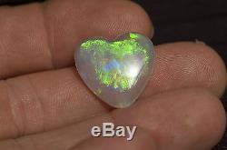 Australian Natural Optique À Cristaux Solides Coupé Pelle Opale Bright Green Red Flash