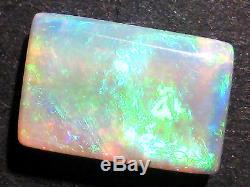 Australian Opal Cut Brillant Pierre Solide Rectangle Bleu Vert 11x8mm (1763)