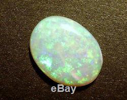 Australian Opal Solide Cut Loose Pierre Translucide Vert Et Bleu 7.9ct (2323)