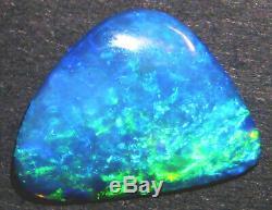 Australian Skinny Shell Cristal Opale Cut Solide Pierre Bleu Vert 15x12mm (1813)