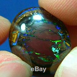 Australian Solide Koroit Green Violet Turquoise Nut Boulder Opal Vidéo
