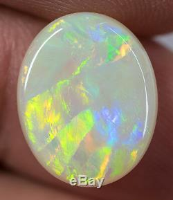 Australian Solide Lumière Naturelle Opale 7.43ct Joyau Lightning Ridge Loa060119