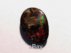 Australie Queensland Boulder Opal Lots Solides De Rouges Et Verts 4ct