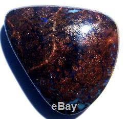 Australie Queensland Boulder Opal Matrice Solide Bleus, Verts, Mauves 19x17mm