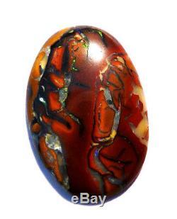 Australien Queensland Boulder Opale Blanches Et Vertes En Pierre De Taille (2363)