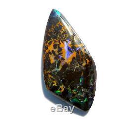 Australien Queensland Boulder Opale Solid Cut Stone Verts Bleus 23x11mm (2498)
