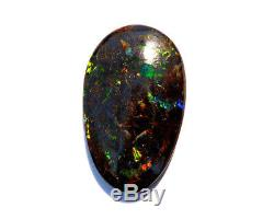 Australien Queensland Boulder Opale Taillée Pierre Taillée Verte Et Bleue 23ct (2369)