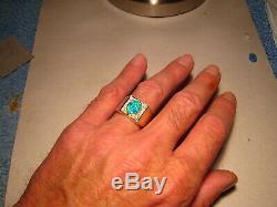 Bague À Diamants Et Opale De Grande Taille Brilliant Pour Homme, 20 Grammes, En Or Jaune 14 Carats Massif