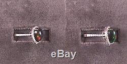 Bague De Halo Sertie De Diamants En Opale Noire Éthiopienne Naturelle En Or Blanc 14k Massif 3,87 Ct