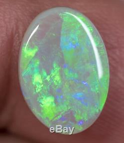 Bague En Opale Semi-noire Australienne Naturelle Solide, Gemme Sbopa120918 De 3,07 Ct, Rare