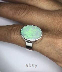 Bague Opale À La Main, Solide Anneau Opale De Foudre Genunie