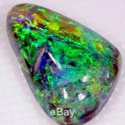Beau Vert 2,0 Carats Opales Noires Éclair Massif