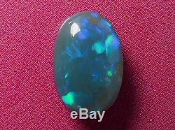 Beautiful Magnifique Violet-bleu-vert Color Pattern Pattern Black Opal 1.73 Carat