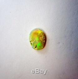 Belle Aust. 12x9 Lightning Ridge 1,56 Ct. Solide Cristal Noir Opal