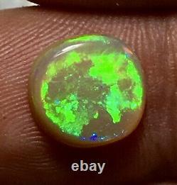 Big Bright Solid 2ct Australian Lighting Ridge B-5 Neon Green Black Crystal Opale