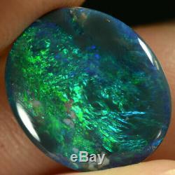 Black Opal Australian Natural Solide Petit Bijou Bleu Électrique Aqua / Couleurs Vert 2,35 Ct