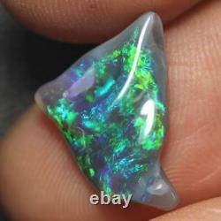 Black Opal Lightning Ridge Australian Solid Carving Stone 2.1ct