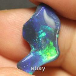 Black Opal Lightning Ridge Australian Solid Carving Stone 4.24ct
