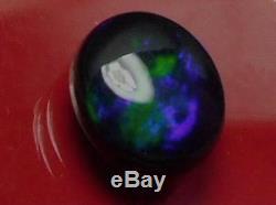 Bonne Qualité Bleu Foncé Couleur Vert Naturel Naturel Opale Noire 2.95 Carat