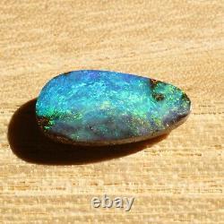 Boulder Opal 14.30ct 14.9 X 7.8mm Opale Opal Naturel Solide Non Serti Pierre Non Sertie