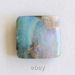 Boulder Opal 24.52ct 19,6 X 18,9 MM Opale Opal Pierre Solide Naturelle En Vrac