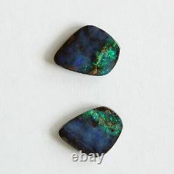 Boulder Opal 4.74ct Set De 2 Australien Naturel En Pierre Solide Parcelle Winton