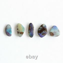 Boulder Opal 6.69ct Ensemble De 5 Australien Naturel En Pierre Solide Parcelle Winton