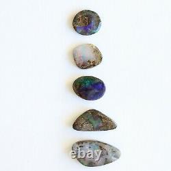 Boulder Opal 9.43ct Set De 5 Australien Naturel Solide En Pierre Libre Parcelle Winton
