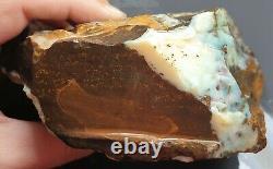 Boulder Opal Rough Specimen Bleu Blanc Opal Naturel Eromanga Lapidaire 1.013 KG
