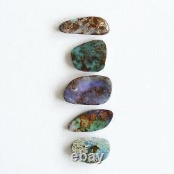 Boulder Opale 22.23ct Ensemble De 5 Australiens Naturel Solide Pierre Lâche Winton Parcelle