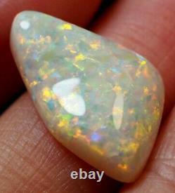 Bright Flash Australian Andamooka Crystal Solid Opal 6.25 Ct Vert Orange Bleu