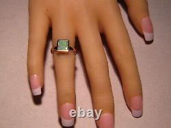 Bright Square Forme Australian Opal Ring 14k Jaune, Re Gratuit Taille