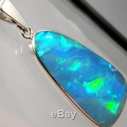 Cadeau Pendentif D'opale Verte Australien Incrusté Naturel Australien Naturel De 8,6 Ct 898