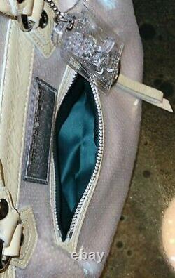 Coach Poppy Spotlight Sequins Sac Opal Pearl White Purse Ltd Edition 16303