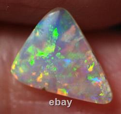 Coober Australien Naturel Pedy Cristal Opal Solide 8,5x7x1,7 MM 0,63 Ct