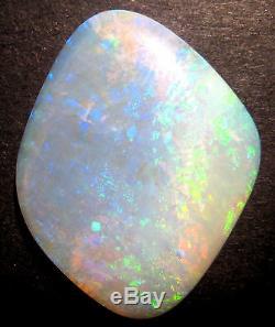 Cristal Coober Australien Translucide Pedy Opal Massif Bleu Or Vert