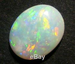 Cristal De Australien Andamooka, Opale Taillée, Pierre Taillée Mutlicolor, Beaucoup De Vert 2187